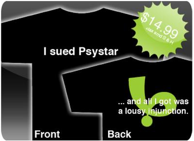 i sued psystar shirt