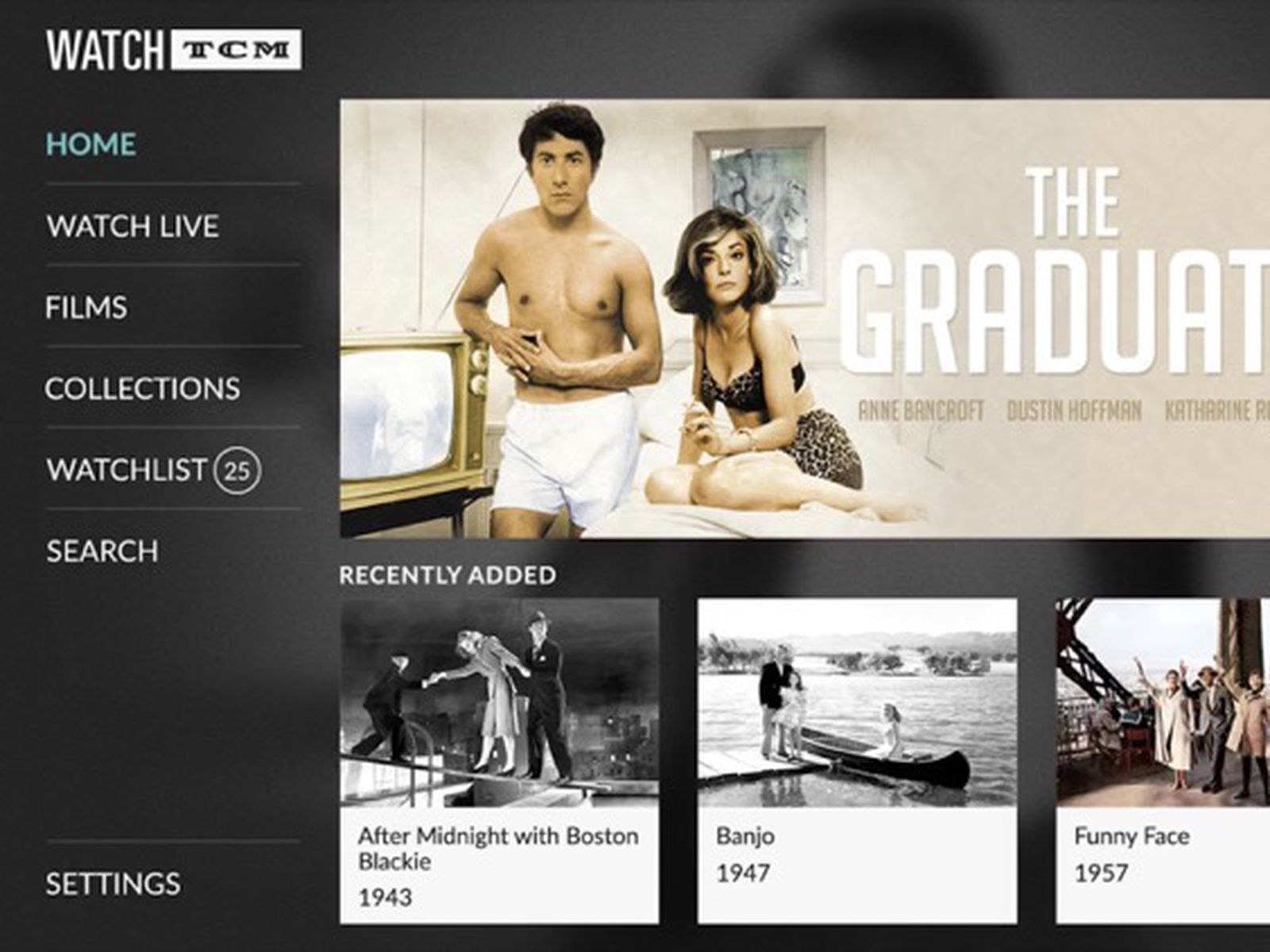 Turner Classic Movies Launches Watch Tcm Tvos App With Thousands Of Classic Films On Demand Macrumors