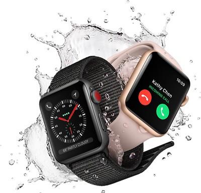 apple watch series 3 splash