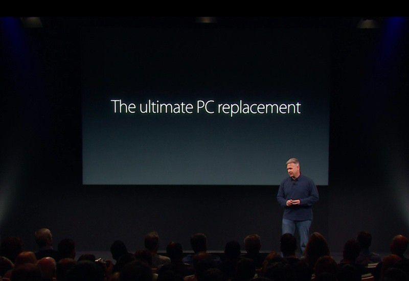 iPad Pro PC replacement media event