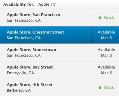 apple tv bay area march 8