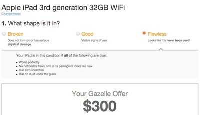 gazelle ipad 3 resale
