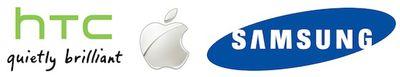htc apple samsung logos