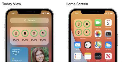 apple magsafe battery case widget