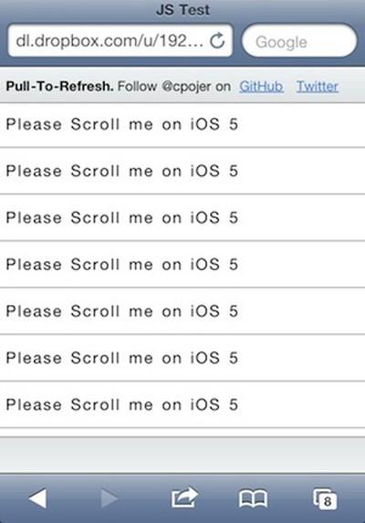 ios 5 web app scroll