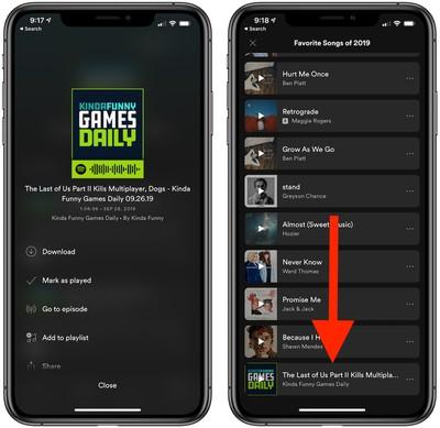 spotify podcasts playlists