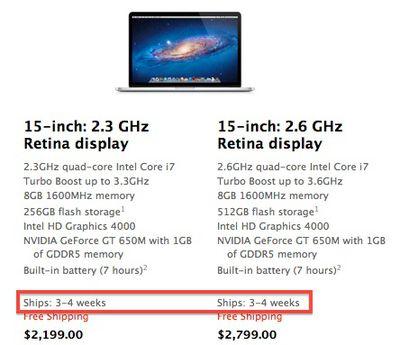 retina macbook pro 3 4 weeks