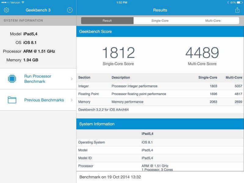 iPadAirGeekbenchScore