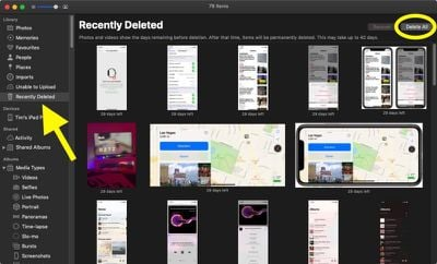 how to delete all photos mac 3