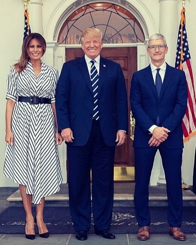 tim cook donald melania trump