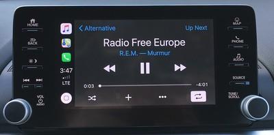accord hybrid carplay music