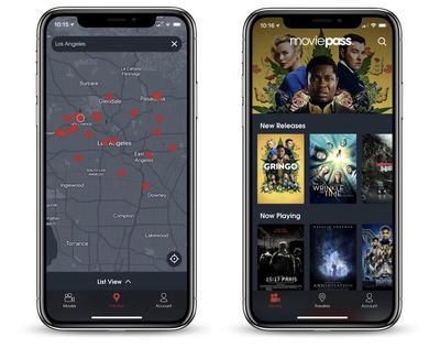 moviepass app map