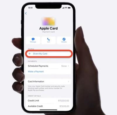 apple card family share