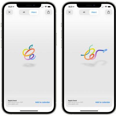 apple ar logo event