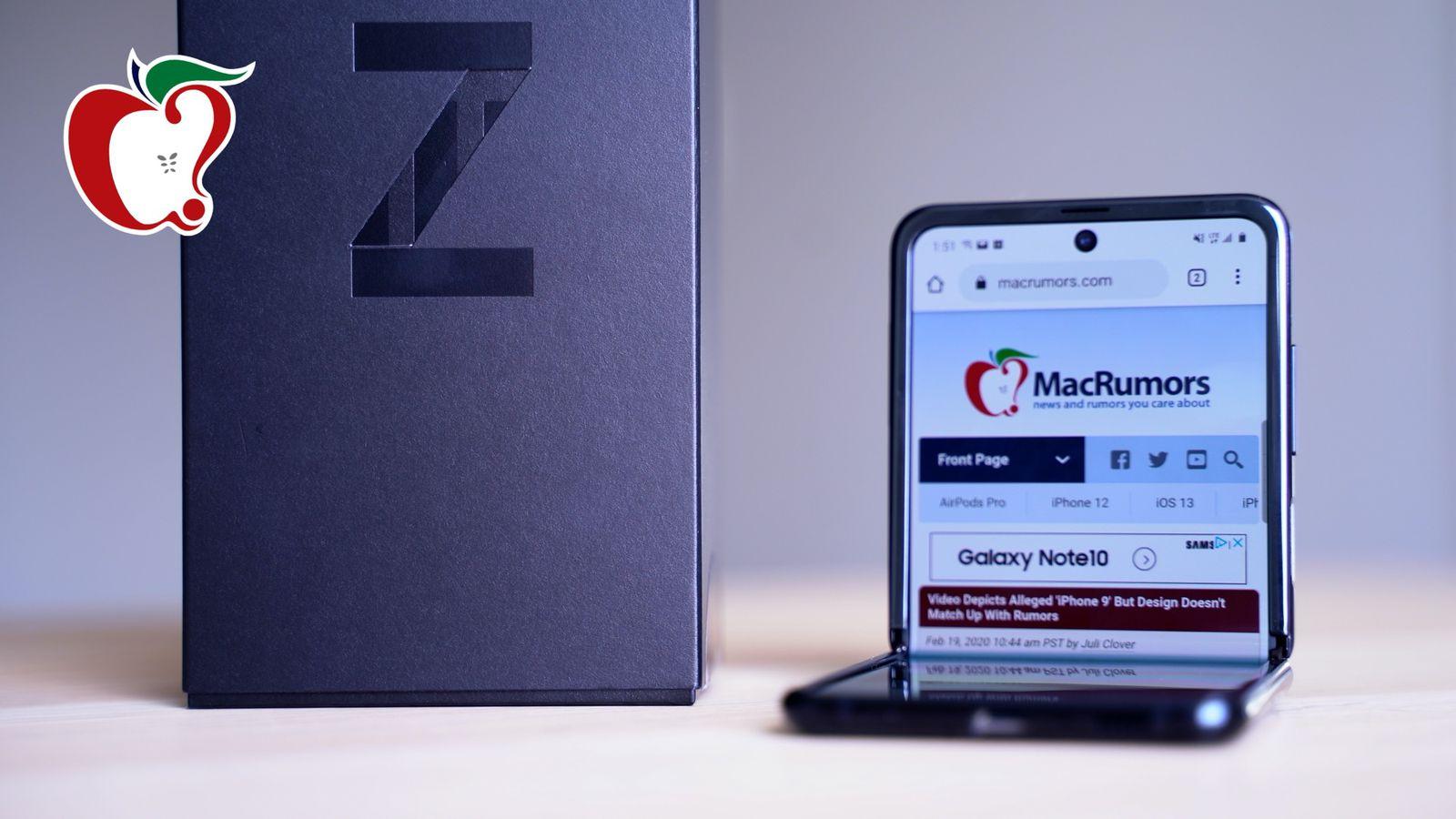 Testing Samsung S New 1 380 Galaxy Z Flip Foldable Smartphone Macrumors