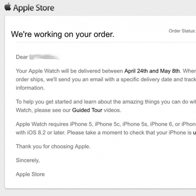 Apple Watch Email Order1