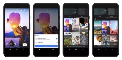 facebook camera cloud storage