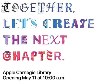apple carnegie library opening