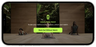 fitness plus workout without watch