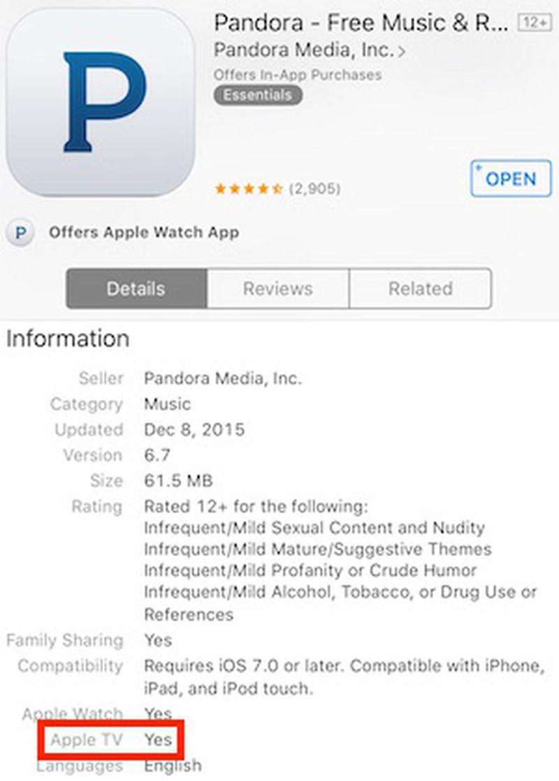 pandora_apple_tv_app_listing