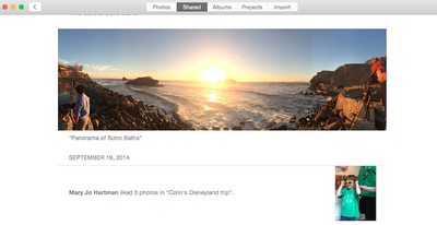 How to add and organize photos for osx yosemite