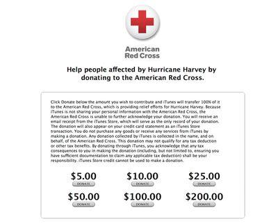 hurricane harvey apple donations