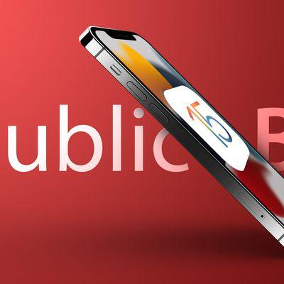 iOS 15 banner public beta red