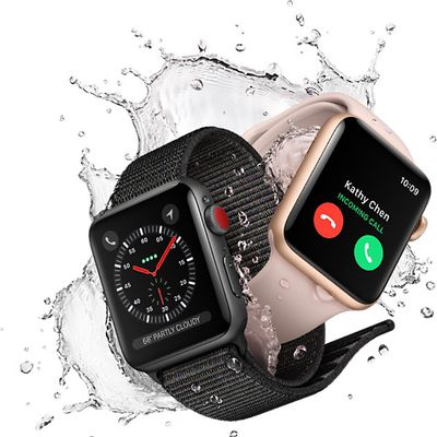 apple watch series 3 splash