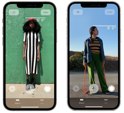 iphone 12 pro measure persons height app