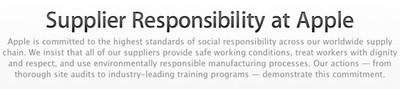 apple supplier responsibilty statement