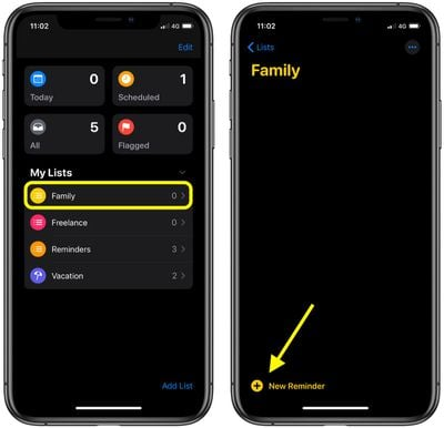 how to create a messages based reminder ios1