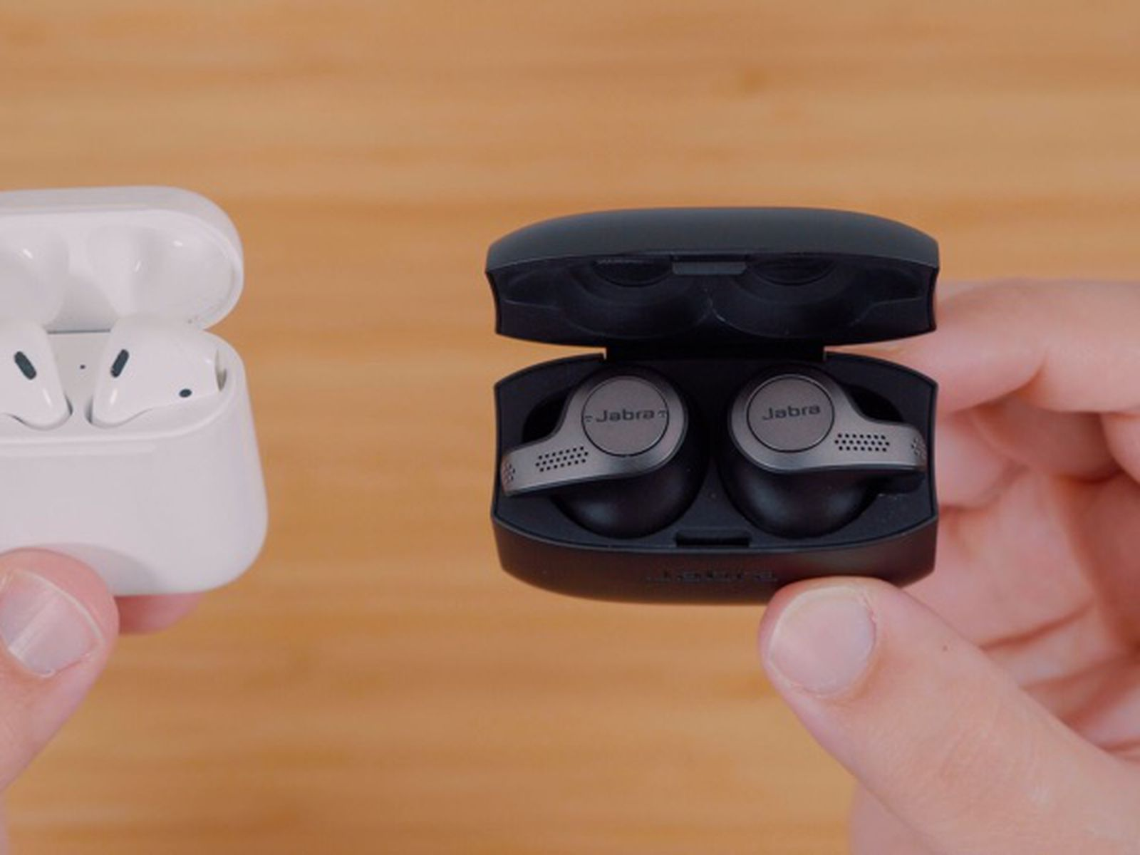 Apple S Airpods Vs Jabra S Elite 65t Wire Free Earbuds Macrumors