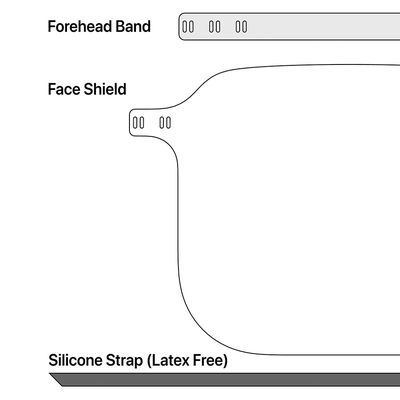 apple face shield parts