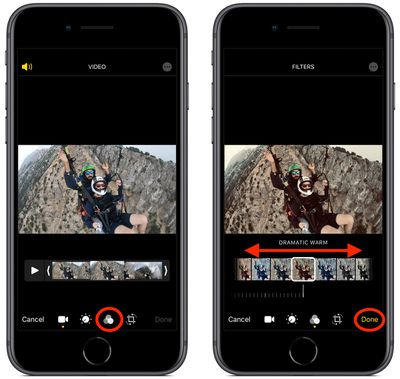 how to apply a filter to video ios 1