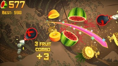 fruit ninja apple arcade