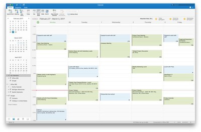 Outlook 2016 for Mac adds support for Google Calendar and Contacts 1