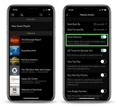 overcast app smart resume