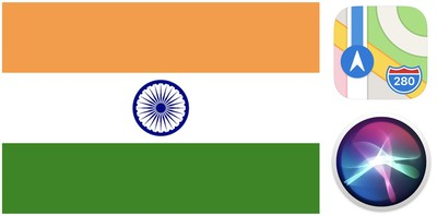 indian flag and apple maps siri