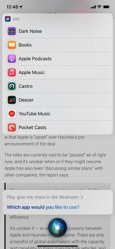 siri default music service ios 14 5 beta