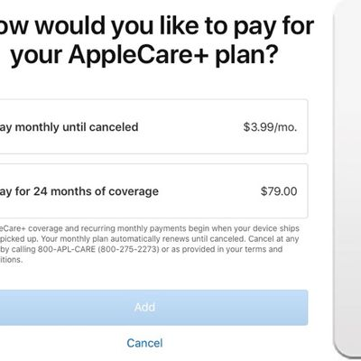 applecare monthly renewal option