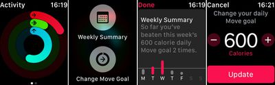Activity force touch