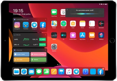 Conceito de Siri no iPadOS