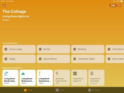 how to set homekit favorites