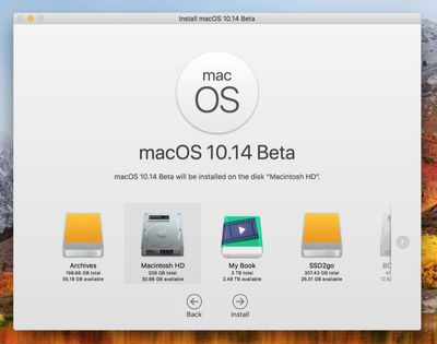 mojave beta install screen 1