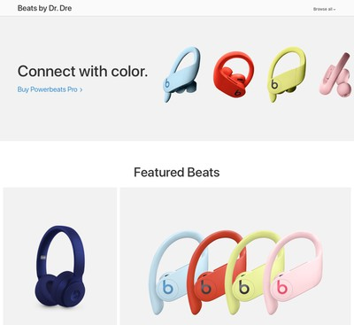 Apple Removes Beats Landing Page From Website Ahead of Tuesday's Launch Event [Update: Restored]