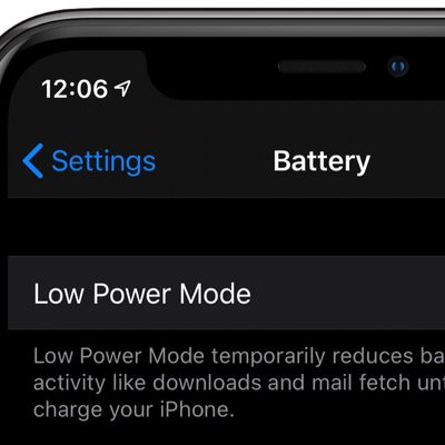 low power mode iphone