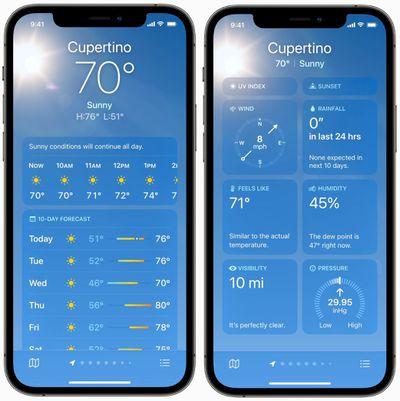 new weather app