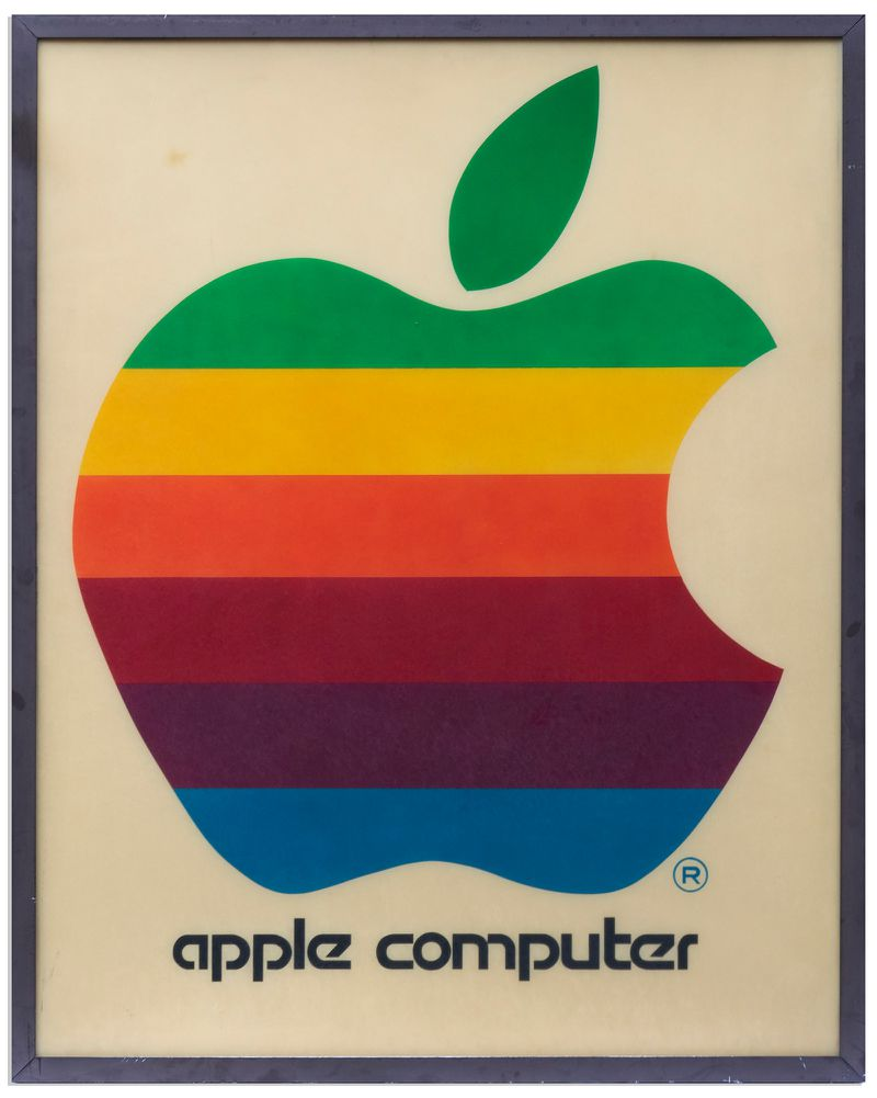 Original 1978 Apple Computer Retail Sign With Iconic Rainbow Logo Being Auctioned Off