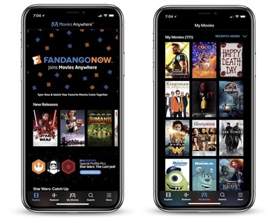 movies anywhere fandangonow iphone x