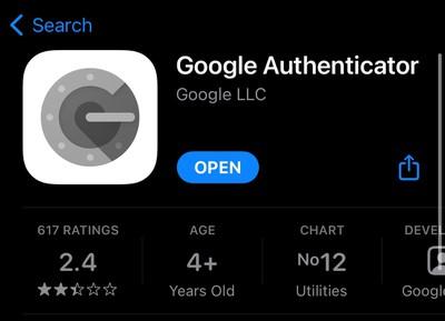 google authenticator app 1